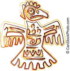 antiguo, ilustración, icono