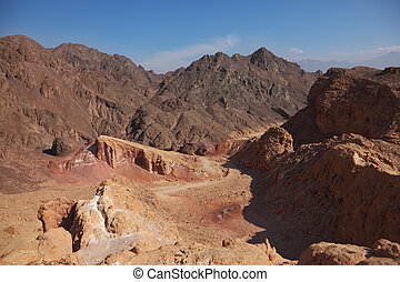 antiguo, montañas, en, israel.