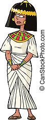 antiguo, mujer, egipcio