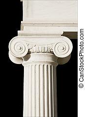 antiguo, pilar, detalle, griego, iónico, orden