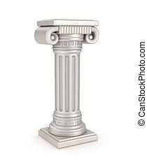 antiguo, pilar, ilustración, 3d