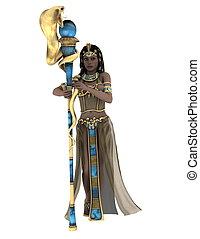 antiguo, reina, egipcio
