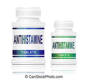 Antihistamine medication. - Illustration depicting two...