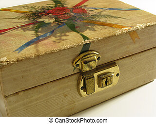 antik, ékszeres doboz