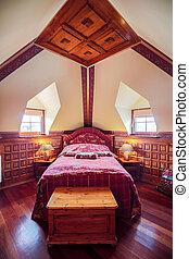 antik, épület, hálószoba