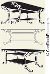 antik, asztal