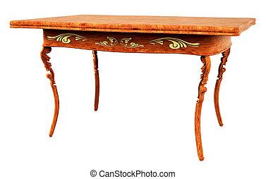 antik, asztal, 3