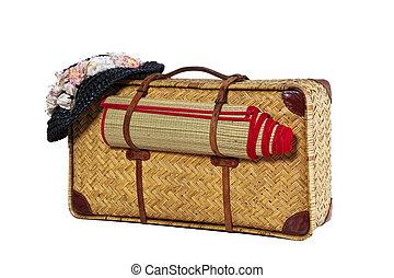 antik, bőrönd
