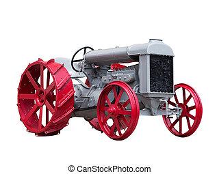 antik, collectible, játékszer, traktor