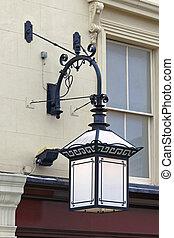 antik, fény, utca