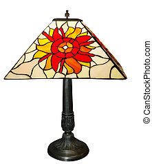 antik, forspring, lys, lampe