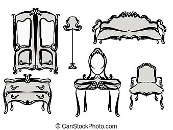 antik, furniture