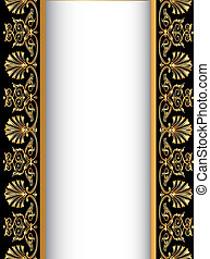antik, gold(en), gamle, baggrund mønster