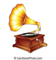 antik, gramaphone