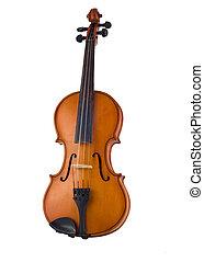 antik, hegedű, elszigetelt