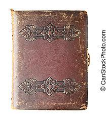 antik, könyv, elszigetelt