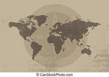 antik kartlagt, design