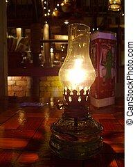 antik, lampe