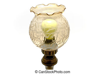 antik, lampe tabel
