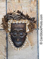 antik, maszk, afrikai