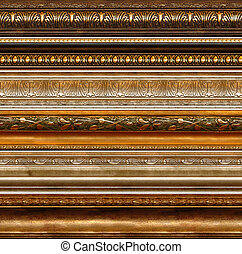 antik, rustic, ornamental, ramme, mønstre