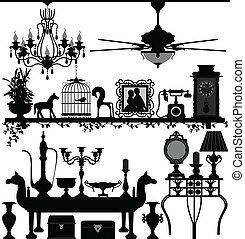 antik, saját dekoráció, berendezés