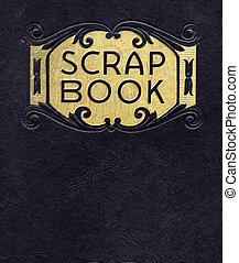 antik, scrapbook, cirka, 1890, (no, hosszabb, alatt, copyright)