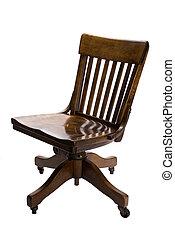 antik, skrivebord stol