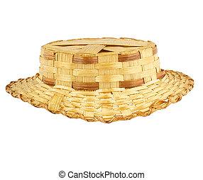 antik, szalmaszál kalap