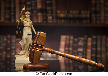 antik, szobor, közül, igazságosság, törvény, előjegyez,...