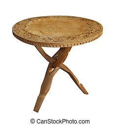 antik, træagtig tabel