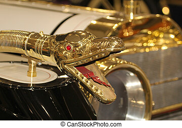 antik vogn, horn