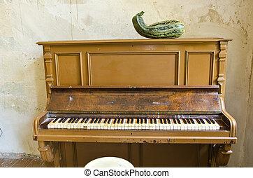 antika gamla, rum, säteri, grön, courgette, piano, zucchini