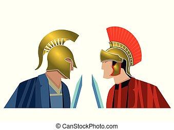 antike, soldaten