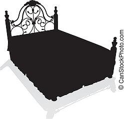 Antikes hundert vektor m bel antikes hundert for Bett zeichnung