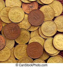antikes , echte , peseta, altes , währung, 1937, republik,...