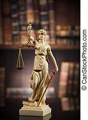antikes , gesetz, hintergrund, gerechtigkeit, buecher, statue