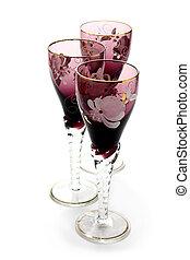 antikes , glas, becher