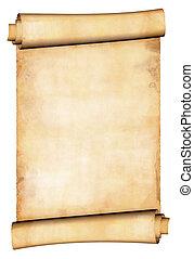 antikes , papierrolle