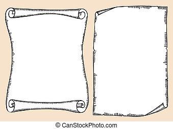 antikes , text, papier, hintergrund, vektor