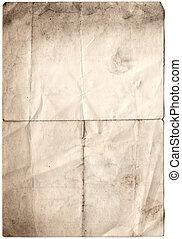 antikes , verfallen, papier, (inc, ausschnitt, path)