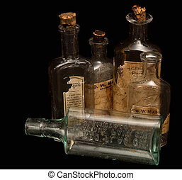 antikes , verordnungsmedizin, flaschen