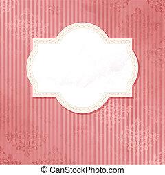 antikes , wedding, rosa, etikett