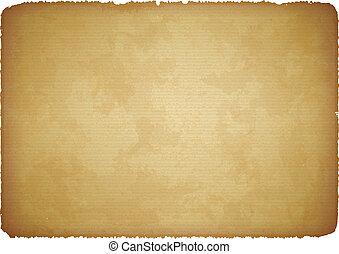 antikisiert, papier, mit, zerrissene , ränder