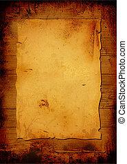 antikisiert, pergament
