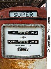 antikvitet, årgång, bensin pumpa, drivmedel, röd