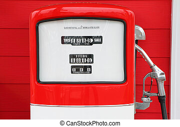antikvitet, årgång, pump, bensin, drivmedel