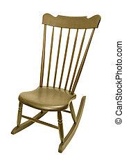 antikvitet, Årgång,  rocking, stol