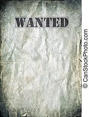 antikvitet, affisch, -, viljat