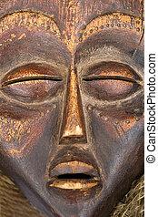 antikvitet, afrikansk, maskera